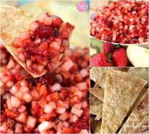 Fruit Salsa with Cinnamon Crisps
