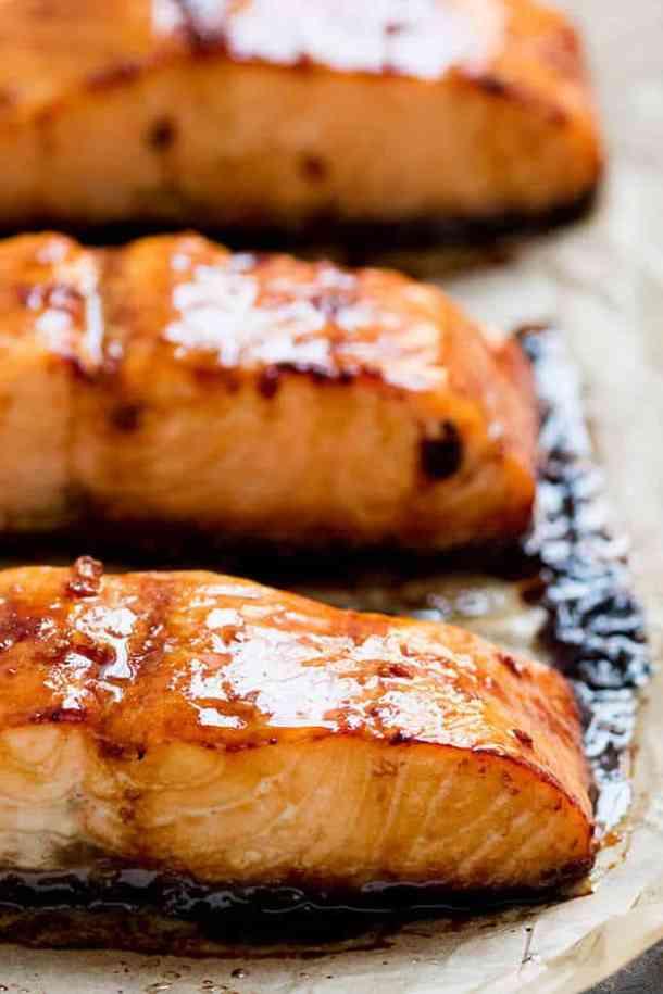 Honey Garlic Baked Salmon