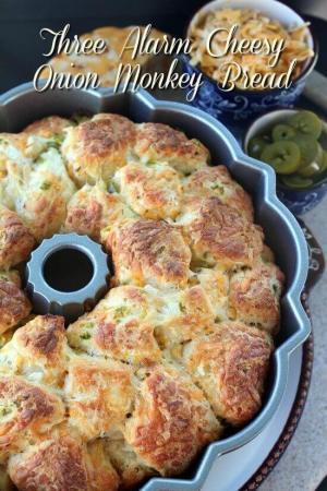 3 Alarm Cheesy Monkey Bread