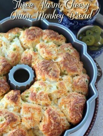 Three Alarm Cheesy Onion Monkey Bread