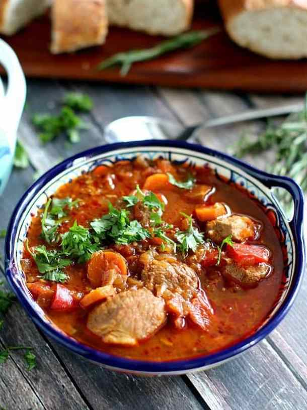 Slow Cooker Goulash Recipe -- part of Old Fashioned Goulash just like grandma made