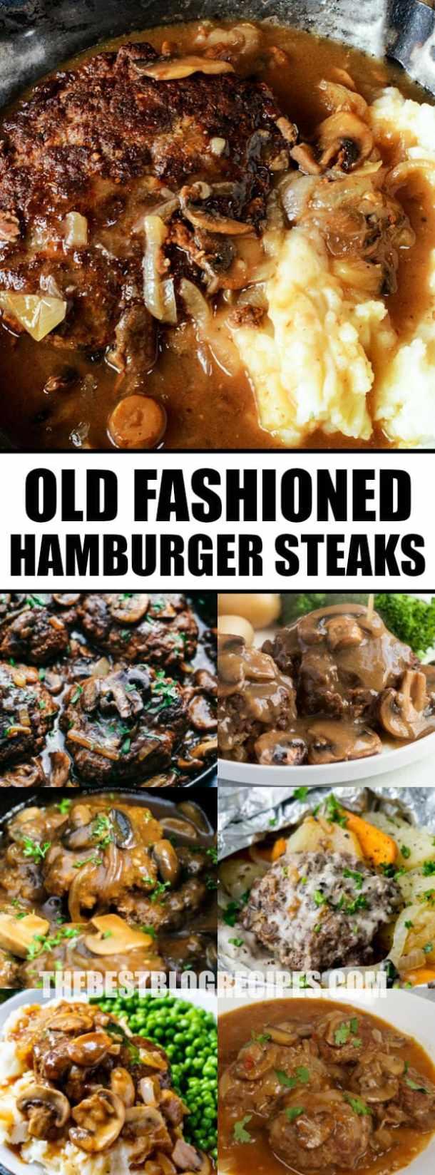 Old Fashioned Hamburger Steaks with Mushroom Onion Gravy