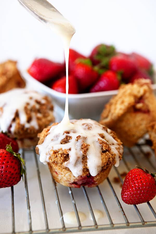 Strawberry Cinnamon Roll Muffins