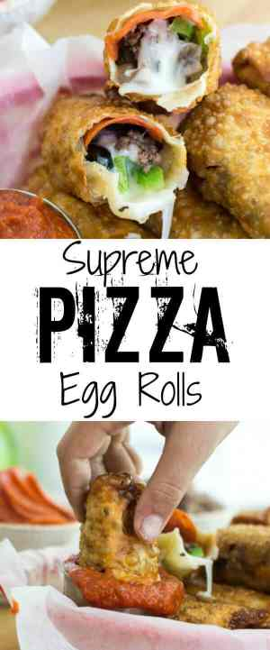 Supreme Pizza Egg Rolls