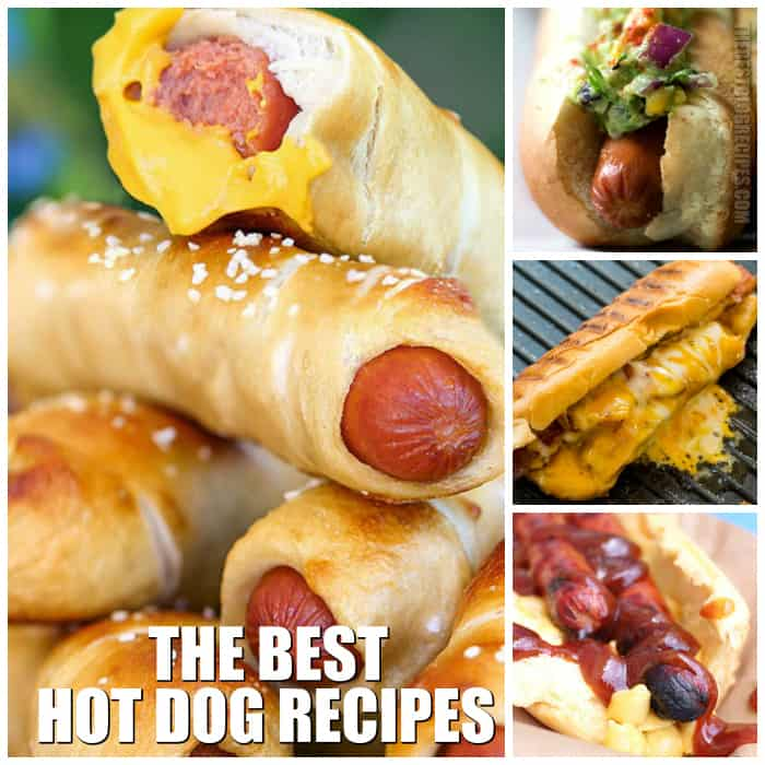 Who doesn't love hot dogs? They are an American classic, which is why we are sharing with you The Best Hot Dog Recipes! These recipes are perfect for a BBQ, weeknight dinner, or game day meal! You won't be able to get enough!