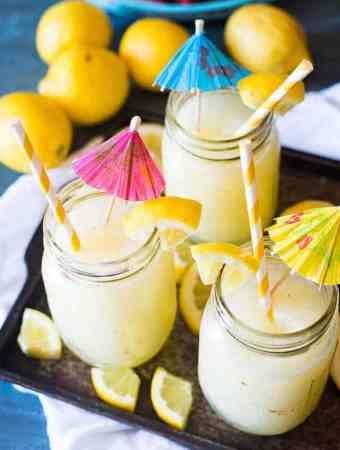 Easy Blended Frozen Lemonade