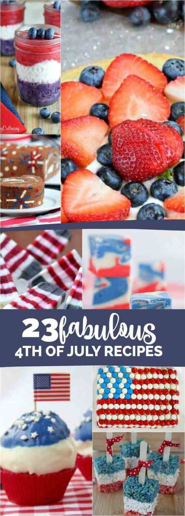 23 Fabulous 4th of July Recipes