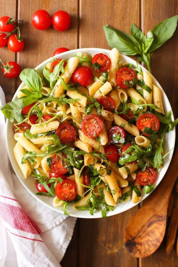 Tomato Arugula Balsamic Pasta Salad -- part of The Best Picnic and Potluck Recipes