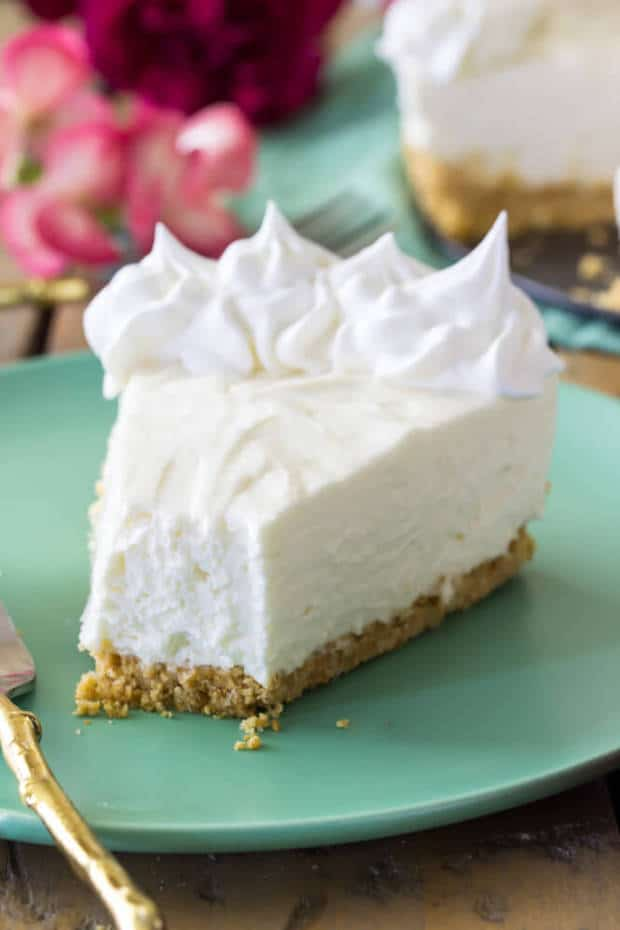 An easy, no-bake cheesecake made without gelatin and with sour cream. Simple with only a few ingredients, skip the oven and make yourself an easy, authentic-tasting cheesecake from scratch.