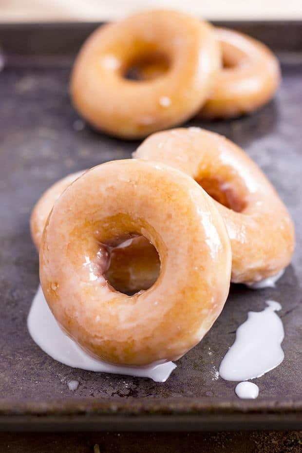 The Original Krispy Kreme Glazed Doughnuts Copycat! Now you can make them at home and eat them fresh!