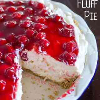 No-Bake Cherry Cheesecake Fluff Pie