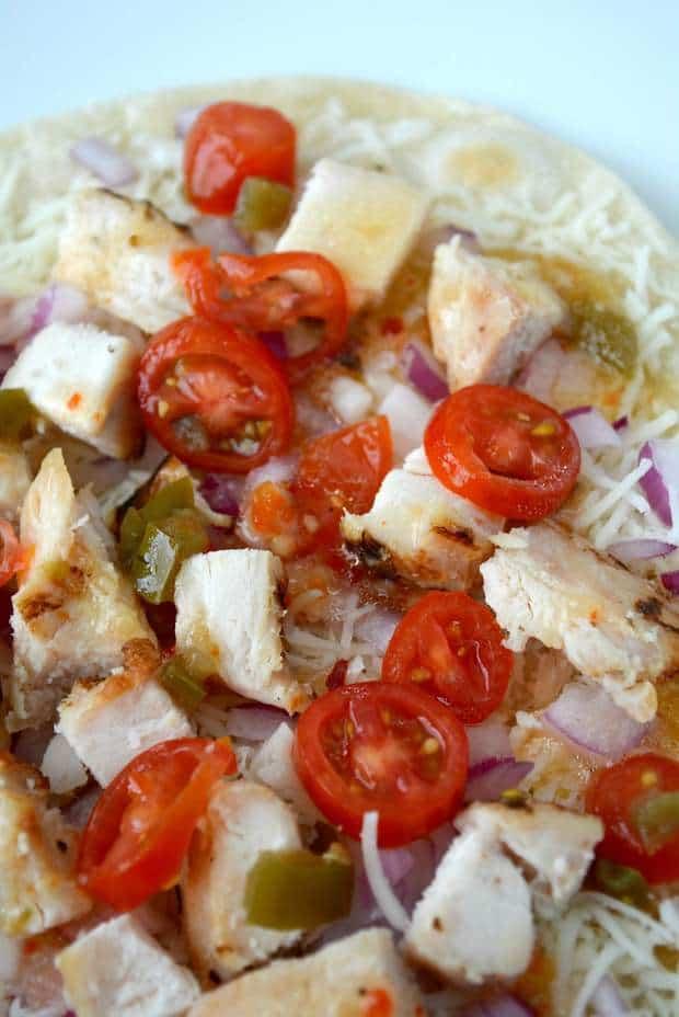 Itallian Grilled Chicken Parmesan Jalapeno Wraps