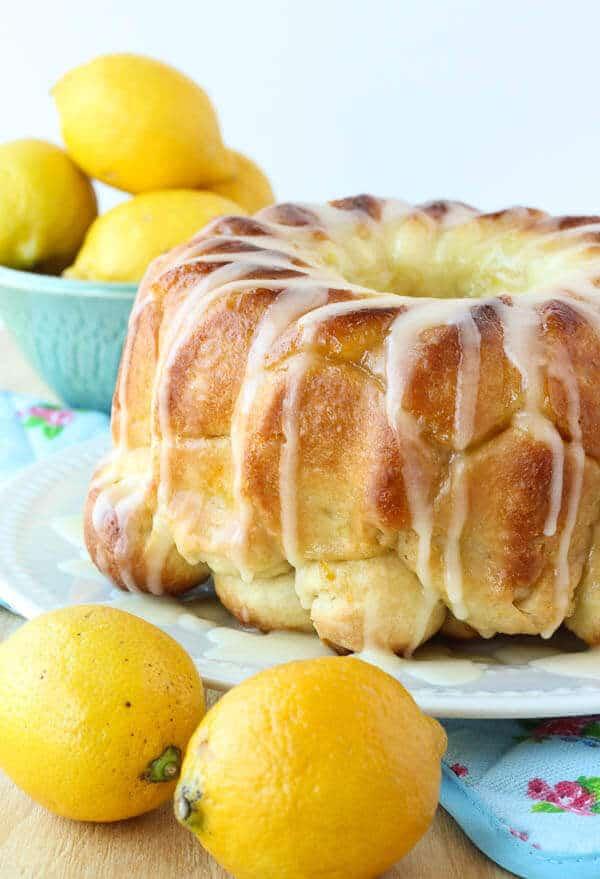 Glazed Lemon Monkey Bread
