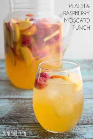 Peach Raspberry Moscato Punch