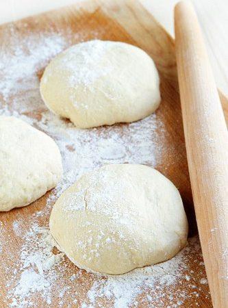 Simple No Knead Pizza Dough