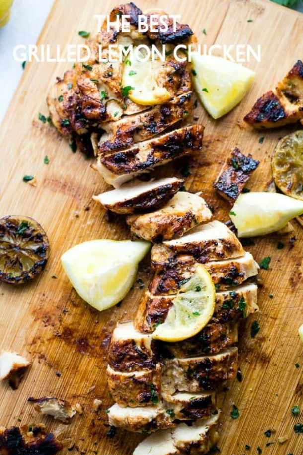 THE BEST GRILLED LEMON CHICKEN RECIPE -- PART OF OUR 20 MUST MAKE LEMON CHICKEN RECIPES