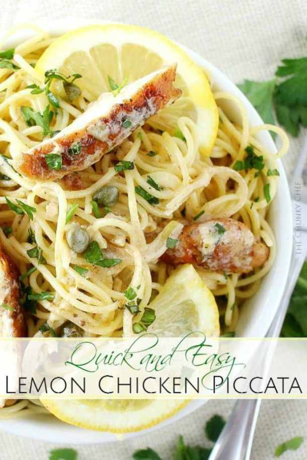 LEMON CHICKEN PICCATA -- PART OF OUR 20 MUST MAKE LEMON CHICKEN RECIPES