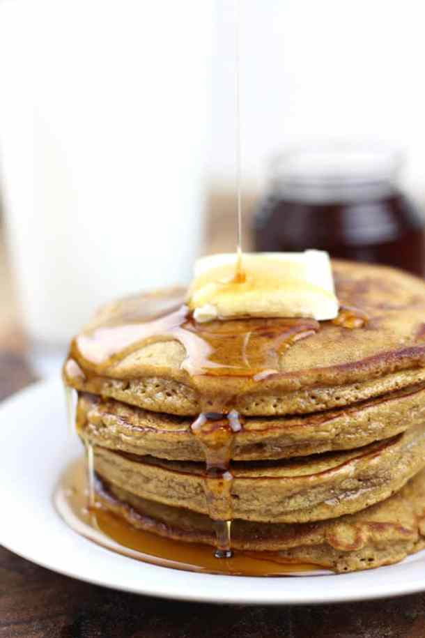 Gingerbread Pancakes with Cinnamon Syrup-- Part of THE BEST PANCAKE RECIPES