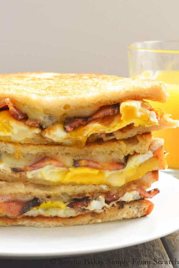 """Withthe bacon, eggs, and melted cheese you have yourself the ultimate comfort food that you can even serve up on a weeknight when you want """"breakfast for dinner""""!"""