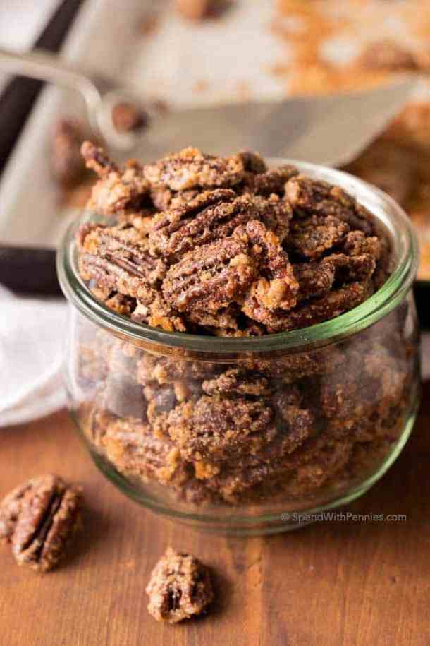 CANDIED PECANS -- part of 21+ Pecan Recipes Perfect for Fall Baking