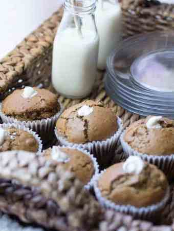 Carrot Apple Muffins with Maple Cream Cheese Filling
