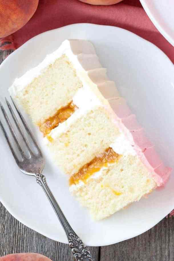 Ombre Peach Layer Cake