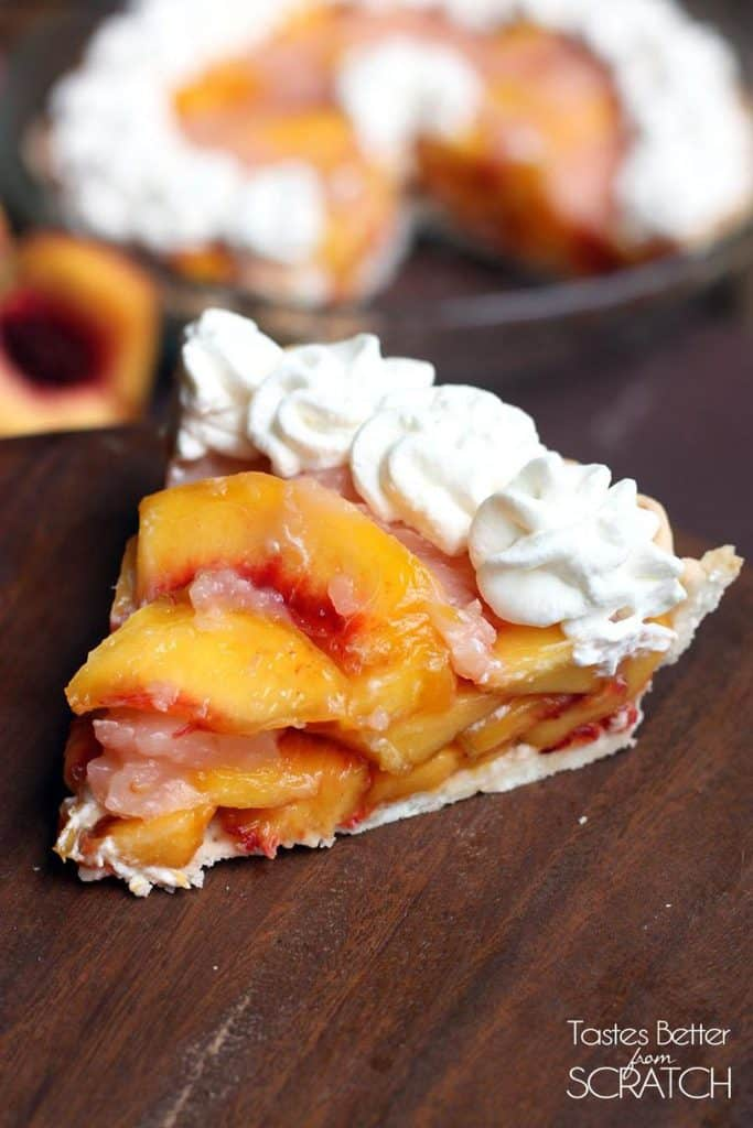 Fresh Peach Pie is a simple and delicious no-bake dessert and a yummy way to use your fresh peaches!