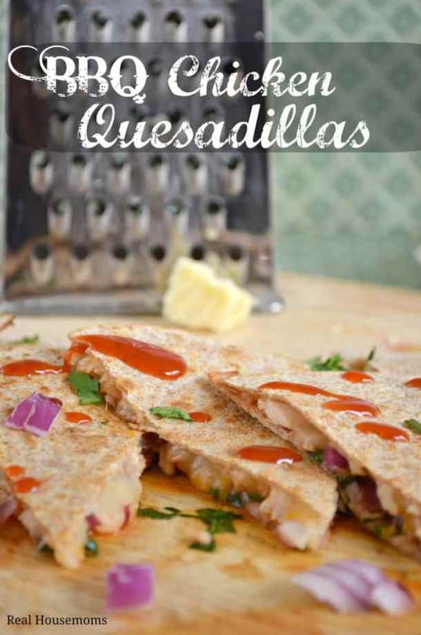 BBQ Chicken Quesadillas--Part of THe Best Quesadillas Recipes