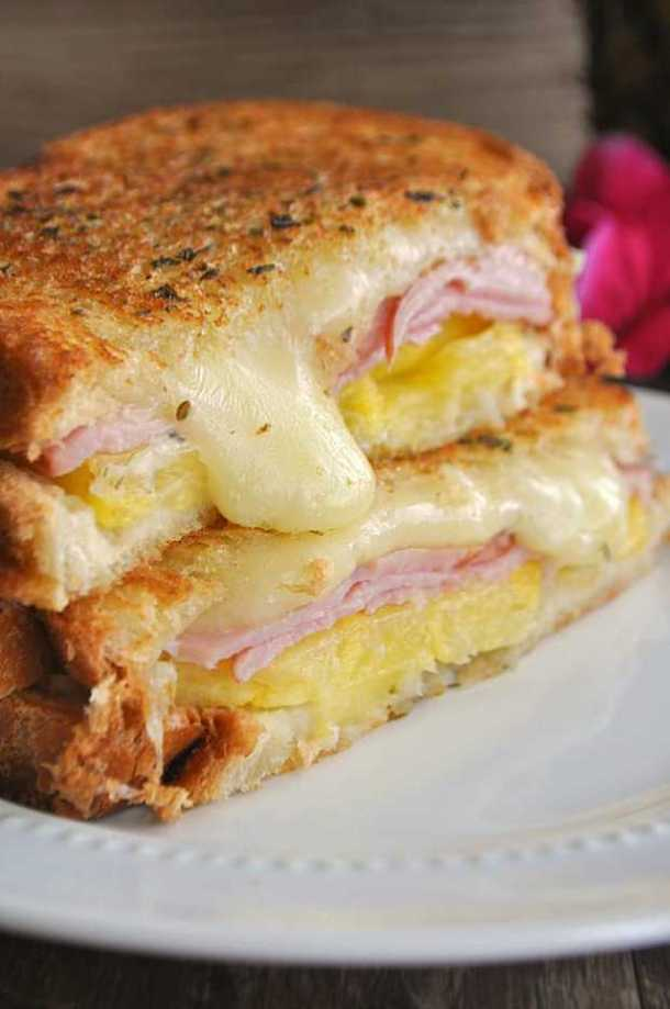 2 Hawaiian Grilled Cheese