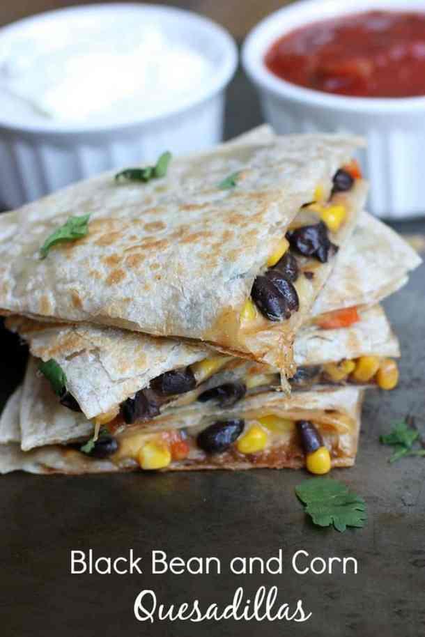 Black Bean and Corn Quesadilla--Part of THe Best Quesadillas Recipes