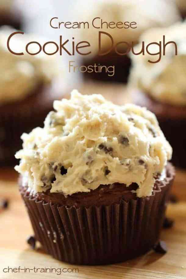 Cream Cheese Cookie Dough Frosting-- Part of 21 Recipes to make if you're OBSESSED with Cookie Dough!