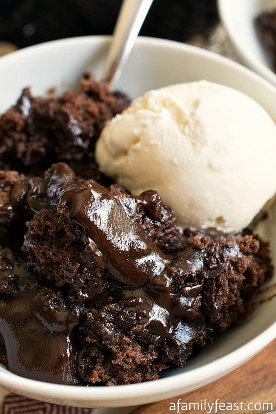Served with some vanilla ice cream – this is one amazingly good dessert that any chocolate lover will enjoy!