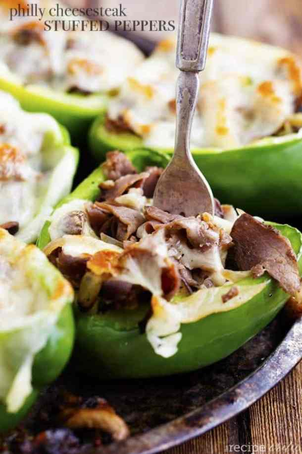 Philly Cheesesteak Stuffed Peppers -- Part of The Best Philly Cheesesteak Recipes