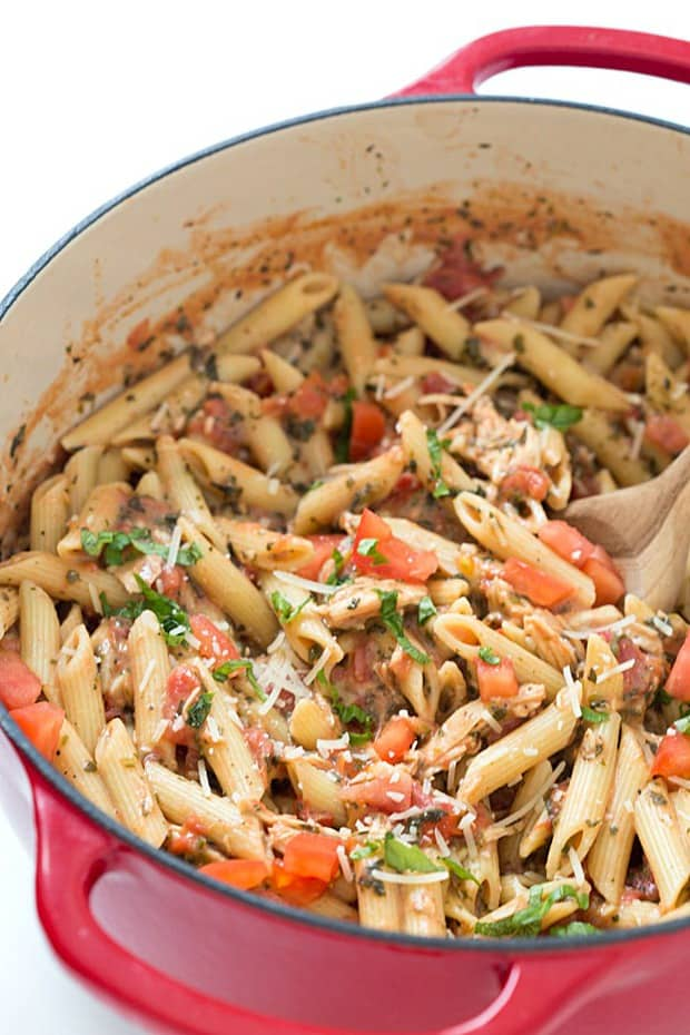 20-Minute Tuscan Chicken with Penne Pasta – The easiest and most flavorful weeknight meal! Comforting, warming, and delicious. Did I mention how quickly ever gobbles it up? Oh yeah.