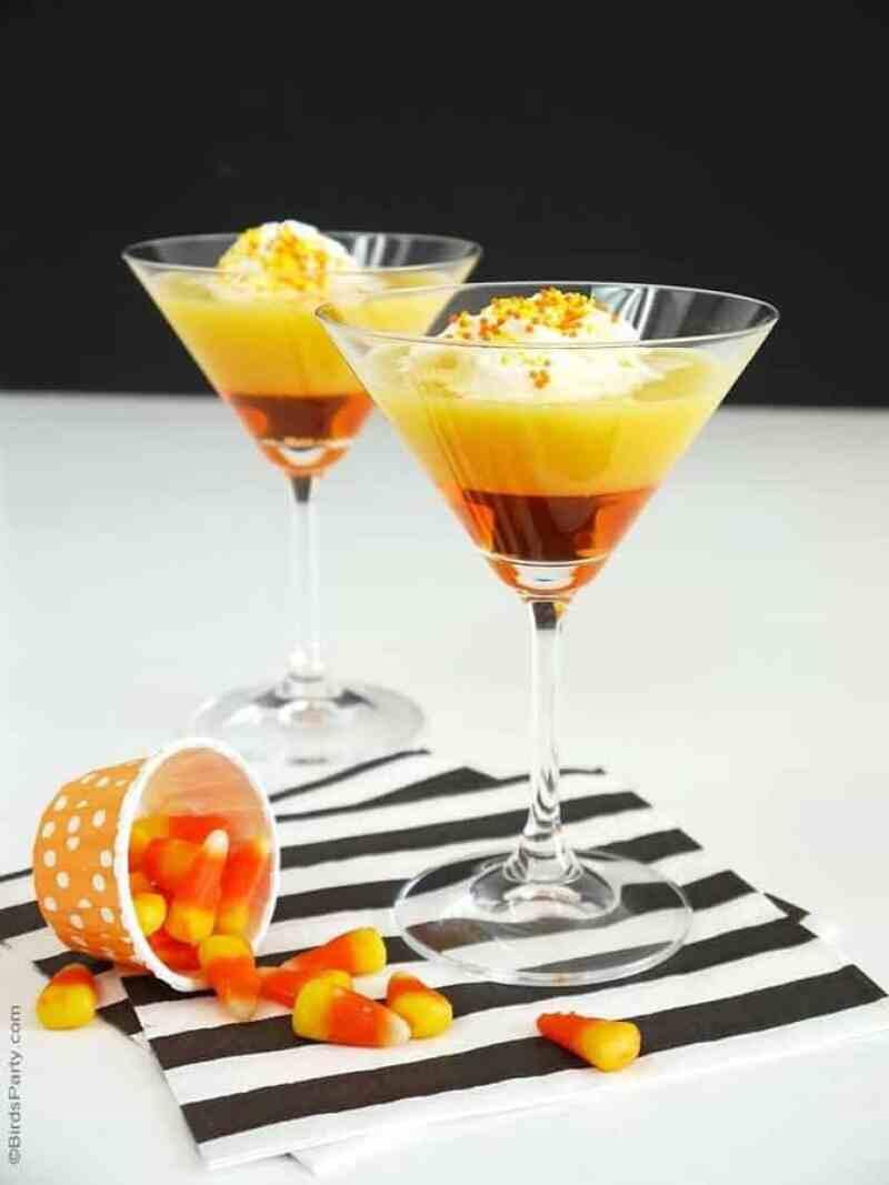 Candy Corn Halloween Cocktail