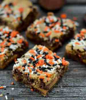 Candy Stuffed Chocolate Chip Bars