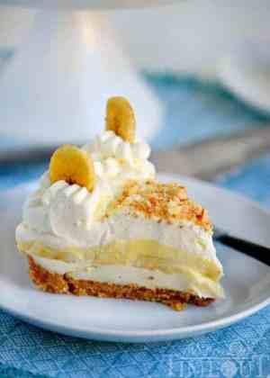 No bake banana cream pie