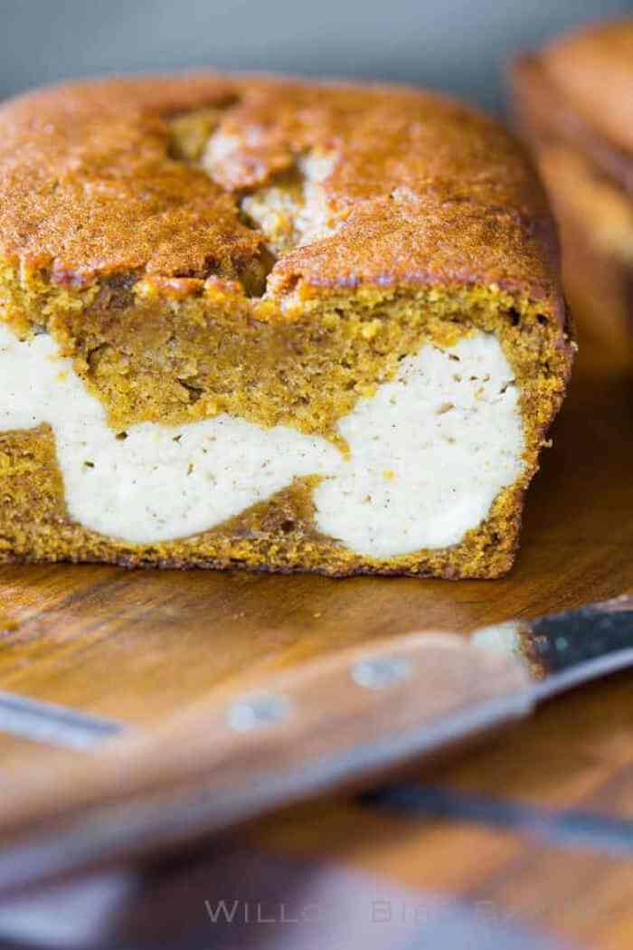 Pumpkin Stuffed Bread with Chai Cheesecake