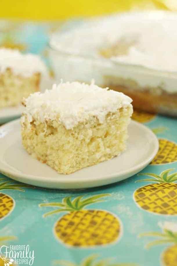 Pina Colada Poke Cake -- Part of Super Moist Poke Cake Recipes