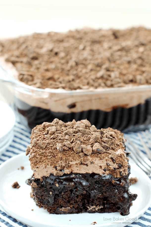 Death by Chocolate Poke Cake -- Part of Super Moist Poke Cake Recipes