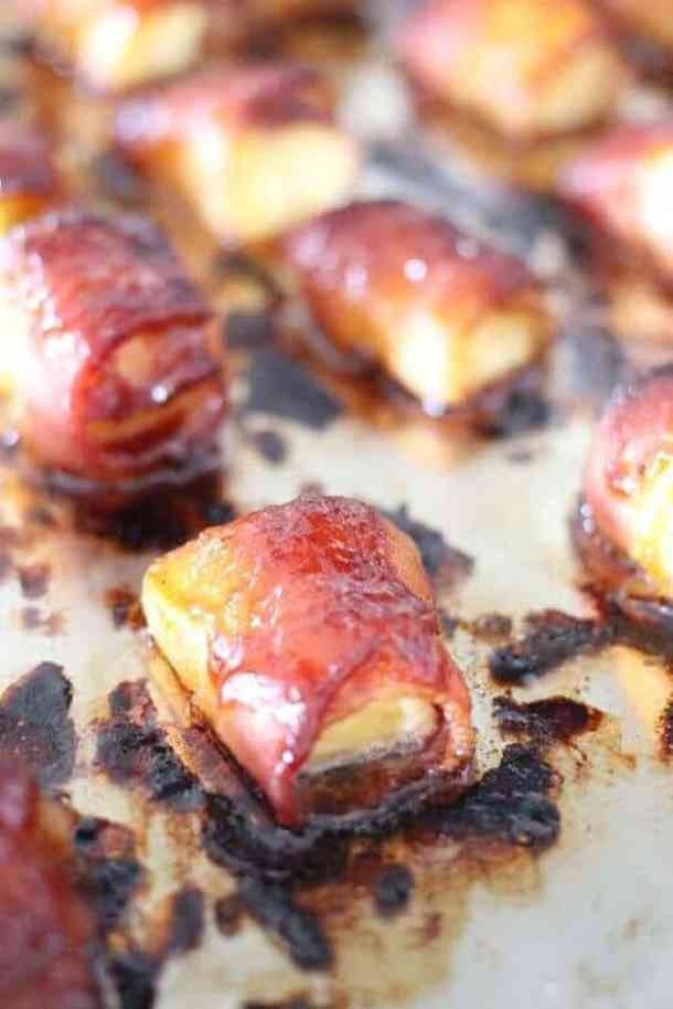 Bacon Wrapped Pineapple Bites -- part of The Most Delicious Appetizer Recipes