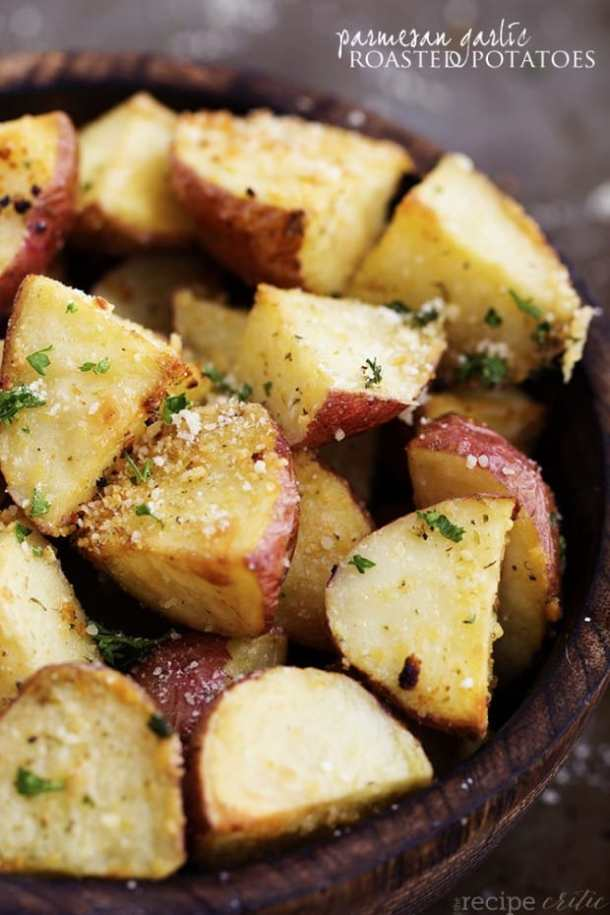 Parmesan Garlic Roasted Potatoes From The Recipe Critic -- part of Loaded Potato Recipes that make the PERFECT Dinner Side Dish