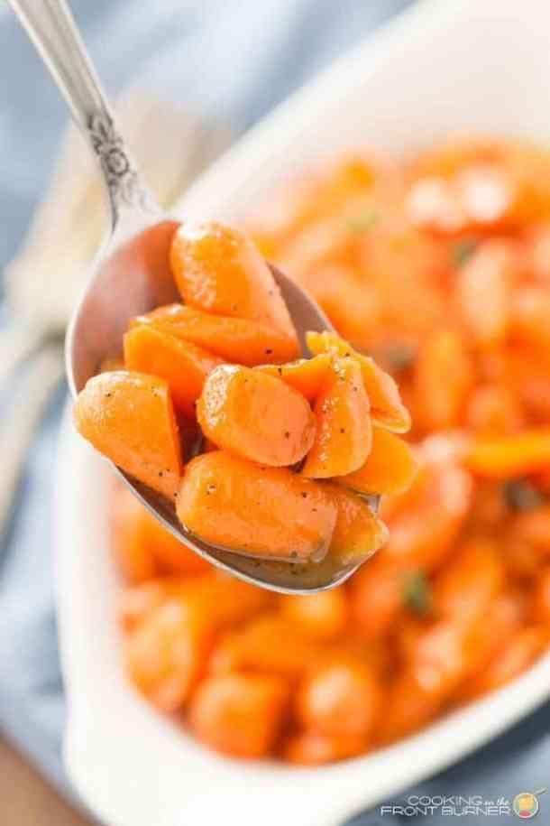 Bourbon Honey Glazed Carrots
