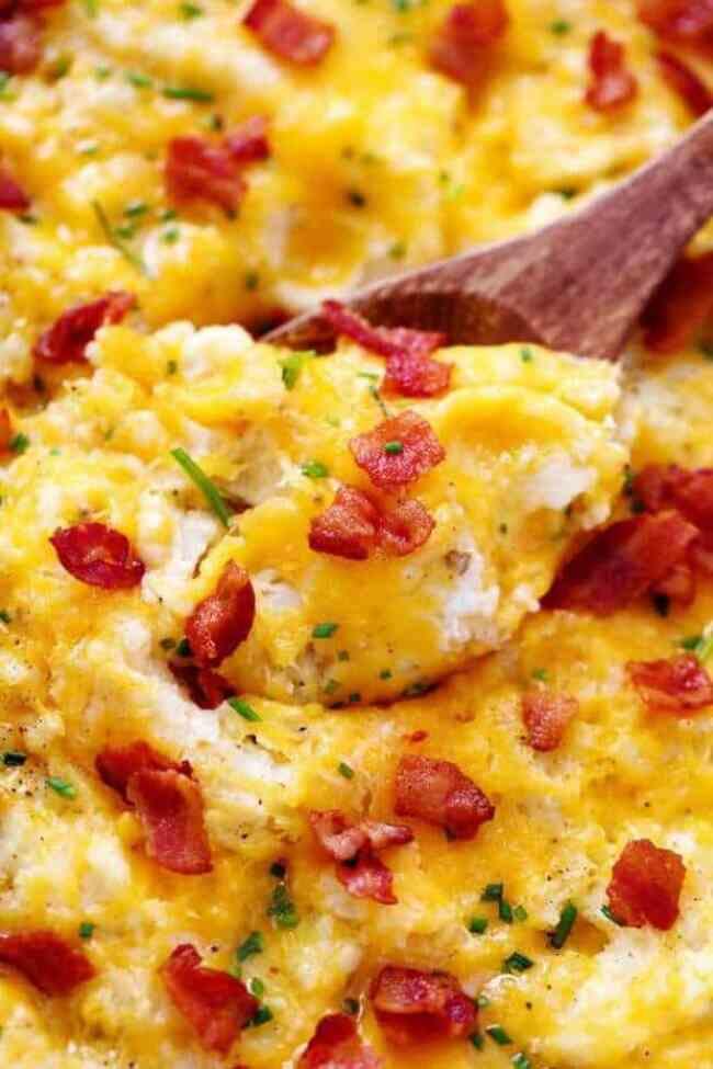 Cheddar Garlic Mashed Potato Casserole