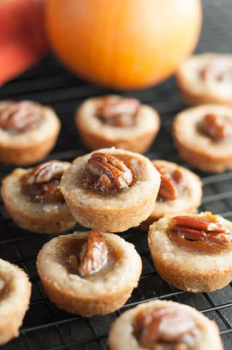 Mini Pecan Pumpkin Pies