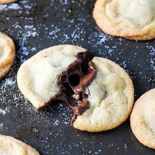 Nutella Stuffed Sugar Cookies
