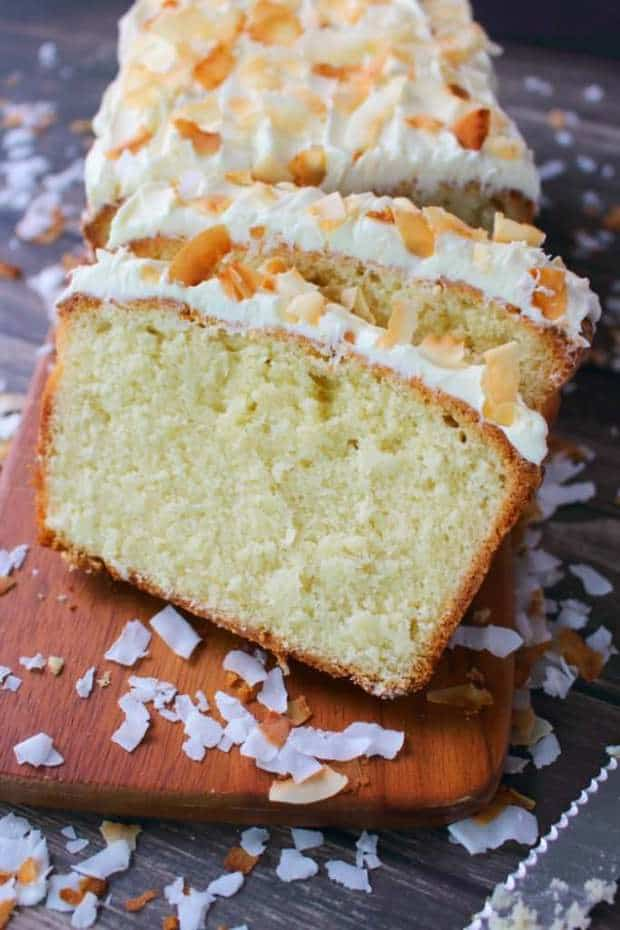The ultimate coconut pound cake recipe! Made with cream of coconut, and sweetened flake coconut this ultra-moist pound cake is a must-make for every coconut lover. Perfect for Easter Brunch, Mother's Day or anytime you're in the mood for an amazing coconut cake!