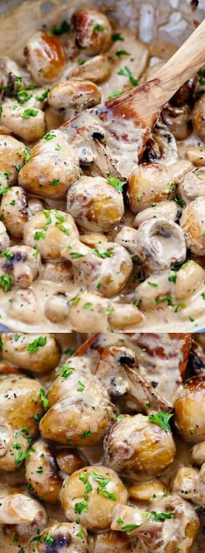 Creamy Garlic Parmesan Mushroom