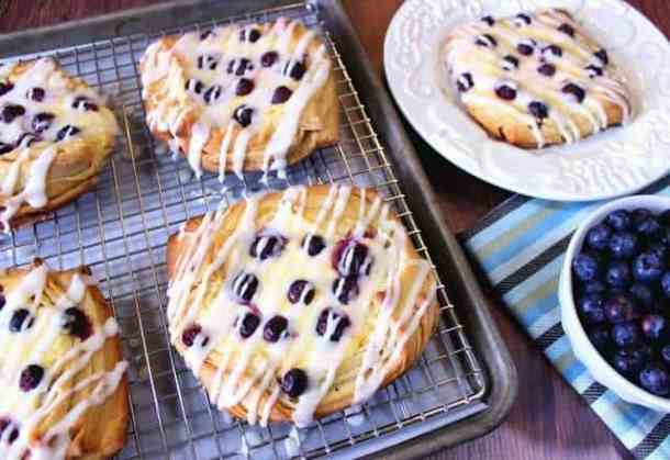 Flaky Blueberry Cheese Danish--- Part of 30 Breakfast Danishes to Start Mornings off Right