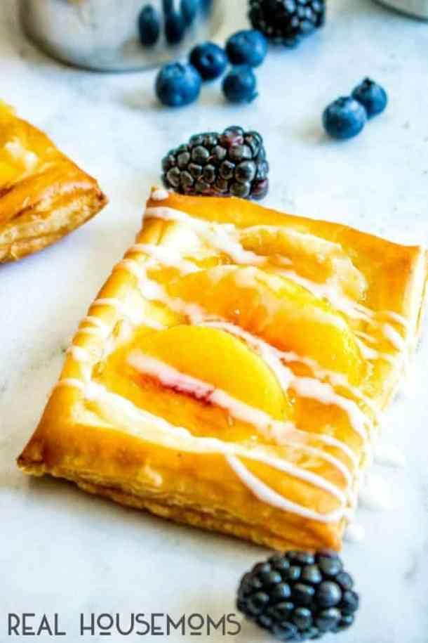 Peach Cream Cheese Danish--- Part of 30 Breakfast Danishes to Start Mornings off Right